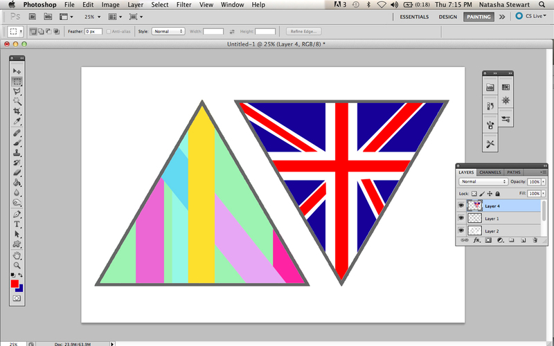 bunting, triangles, printables  - Make No-Sew Bunting