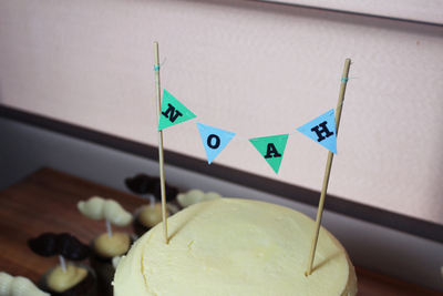cake bunting, cake decorating, diy, craft